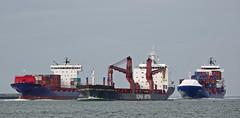 POLLUX , SLOMAN DISPATCHER & SVEN D (kees torn) Tags: svend slomandispatcher pollux containerschepen slomanneptun cargo hoekvanholland nieuwewaterweg