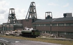 SURVIVOR (Malvern Firebrand) Tags: hunslet austerity 060st joseph he 316344 loco shed bold colliery st helens pit winding gear june 1982 steam locomotive railway trains engine buildings coal industry industrial history lancashire historical sapper alison