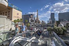 Las Vegas 0005 (cbonney) Tags: las vegas boulevard nevada strip casinos traffic tourists eiffel tower escalator resorts