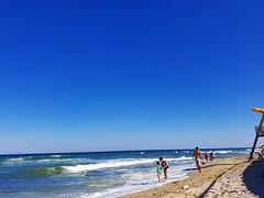 Blue Sea (xandriaam) Tags: sea seaview bluesky bluesea summer sun ro romania holidayinthesun people relax travel wave waves beach sand lamer