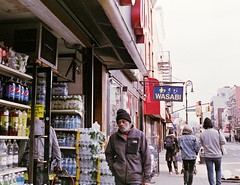 Sad eyes (Nun Nicer Artist) Tags: 35mmstreetphotography 35mm walking sad eyes newyork brooklyn streetphotography analogfilm artphotography analog