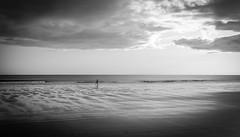 Morning run . . (wayman2011) Tags: colinhart fujifilm23mmf2lightroom5 fujifilmxe2s wayman2011 bw mono coast beach seaside seascapes people running northumberland seahouses uk