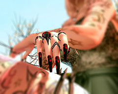 All Hallows' (amberlygrimm) Tags: nails halloween maitreya witchcraft secondlife spooky bloody gothic crow red black
