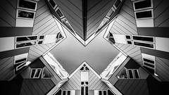 Cubes II (s.W.s.) Tags: rotterdam netherlands holland city urban architecture architectural abstract building cubehouses blackandwhite windows symmetry nikon lightroom