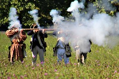 FIRING ON THE BRITISH (MIKECNY) Tags: fire shoot smoke soldier colonials american schoharievalley volley schoharie oldstonefortdays americanrevolution reenactor reenactment