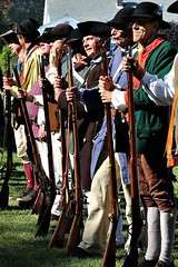 READY TO FIGHT (MIKECNY) Tags: attention troops gather muster colonials militia soldier rifle musket schoharie oldstonefortdays schoharievalley americanrevolution