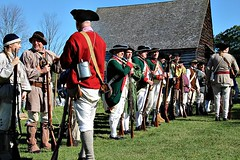 PREPARING FOR BATTLE (MIKECNY) Tags: gathering troops muster colonials militia americanrevolution schoharie schoharievalley soldier musket rifle oldstonefortdays