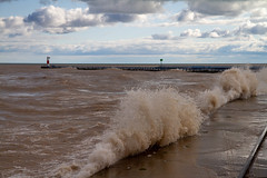 Waves Rolling In (Lester Public Library) Tags: wave waves water lakemichigan lake harbor harborpark tworiversharbor wisconsin tworivers tworiverswisconsin clouds cloudy lesterpubliclibrarytworiverswisconsin readdiscoverconnectenrich