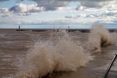 Big Splash (Lester Public Library) Tags: wave waves water lakemichigan lake harbor harborpark tworiversharbor wisconsin tworivers tworiverswisconsin clouds cloudy lesterpubliclibrarytworiverswisconsin readdiscoverconnectenrich