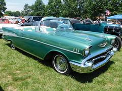 1957 Chevy Bel Air Convertible (splattergraphics) Tags: 1957 chevy belair convertible carshow lancastercountycruisers willowstreetpa