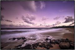 Donkey Beach, Kealia, Kauai. (peterrath) Tags: sunset sunrise landscae seascape landscape water ocean pacific beach sand sky clouds color kauai hawaii kealia travel canon eos 5dsr