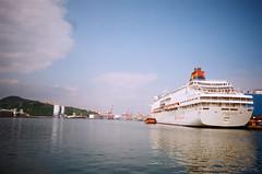 Ships. (蒼白的路易斯) Tags: harbor cityscapes film taiwan keelong kodakcolorplus200 pentaxespio928 底片攝影 底片