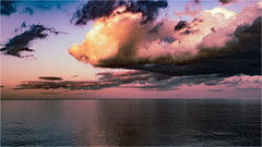 Very Calm before Storm (Lelio Dellanoce) Tags: clouds vibrant storm sea sky sunset england whitleybay northeastengland seascape