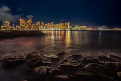 Goodnight Waikiki (jijake1977) Tags: city longexposure water waikiki honolulu nitescape nikon tokina d800