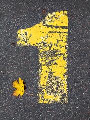 One is the loneliest number (Markus Jansson) Tags: number yellow leaf autumn fall simple minimal minimalistic minimalism
