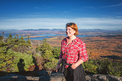 View from the wooden helipad at the top of Big Moose Mountain - Big Moose Township Maine (Jonmikel & Kat-YSNP) Tags: fall hiking maine newengland woods trees trail forest mountain peak mountaintop view