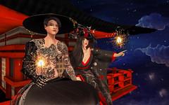 Neo-Japan SL Event Photo Contest 4 - [Gentlemonsterr Resident] (Chiaki♪) Tags: secondlife japanesetraditional japanese neojapan neojapanphotocontest neojapn red scifi scibot smile fantasy story sl tattoo
