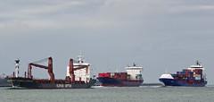 SLOMAN DISPATCHER , POLLUX & SVEN D (kees torn) Tags: svend slomandispatcher pollux containerschepen slomanneptun cargo hoekvanholland nieuwewaterweg