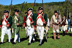 HEADING TO BATTLE (MIKECNY) Tags: troops soldier battle rifle musket march american colonial militia schoharie oldstonefortdays newyork uniform schoharievalley