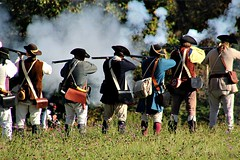 COLONIAL FIRE (MIKECNY) Tags: fire shoot troops colonials militia volley musket rifle schoharie oldstonefortdays schoharievalley battle