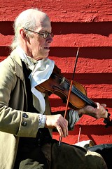 PERIOD MUSIC (MIKECNY) Tags: music fiddle instrument string play glasses colonial oldstonefortdays schoharie newyork