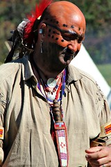 INDIAN ALLY (MIKECNY) Tags: indian reenactor reenactment nativeamerican knife warpaint schoharie schoharievalley oldstonefortdays americanrevolution