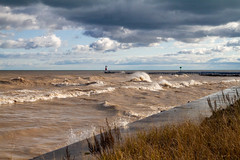 Harbor Waves Roll In (Lester Public Library) Tags: wave waves water lakemichigan lake harbor harborpark tworiversharbor wisconsin tworivers tworiverswisconsin clouds cloudy lesterpubliclibrarytworiverswisconsin readdiscoverconnectenrich