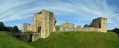 Warkworth castle and the gulf stream (WISEBUYS21) Tags: panorama northumberland northumbria northeastofengland northeast warkworth castle green grass blue sky gulf stream cloud 12th century edward 1st john percy family duke grade 1 listed building fortress border wars river coquet coast gatehouse wisebuys21 keep english heritage jmwturner hotspur harry