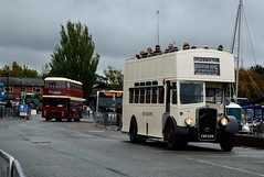 352 CAP223 (PD3.) Tags: brighton hove bristol k ecw open top topper topless isle wight iow hants hampshire england uk great britain newport godshill quay harbour bus buses museum preserved vintage running day rally autumn sunday 12 13 october 2019 southern