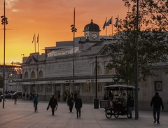 Photo of Sunrise at Cardiff Central station, Wales, UK