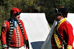 BRITISH (MIKECNY) Tags: british uniform troops soldier oldstonefortdays americanrevolution schoharie schoharievalley tent camp