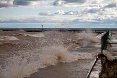 Splash (Lester Public Library) Tags: wave waves water lakemichigan lake harbor harborpark tworiversharbor wisconsin tworivers tworiverswisconsin clouds cloudy lesterpubliclibrarytworiverswisconsin readdiscoverconnectenrich