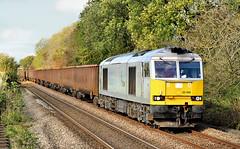 Drax Tug At Niffany. (Neil Harvey 156) Tags: railway 60066 niffany skipton airevalley gypsumtrain 6e97 monsterboxes mba class60 draxlivery poweringtomorrow dbcargo tug