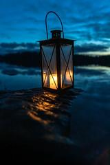 Lantern by the lake (VisitLakeland) Tags: finland lakeland autumn järvi lake lantern luonto lyhty maisema nature night outdoor scenery syksy yö