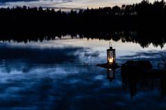 Lantern by the lake 2 (VisitLakeland) Tags: finland lakeland autumn järvi lake lantern luonto lyhty maisema nature night outdoor scenery syksy yö