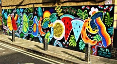 The Hawley Mews Mural In Chalk Farm - London. (Jim Linwood) Tags: mural camden london england