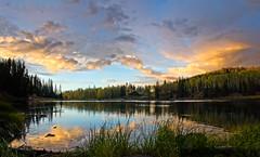 Mesa Lakes Sunst (valentina425) Tags: colorado forest fall reflection sunset lake mesa lakes