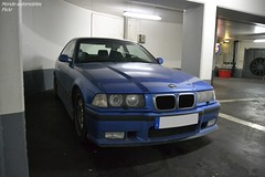 Hartge BMW M3 E36 (Monde-Auto Passion Photos) Tags: voiture vehicule auto automobile cars bmw m3 hartge coupé bleu blue sportive rare rareté parking sousterrain vendome france paris