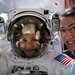 NASA astronauts Christina Koch and Jessica Meir prepare for a spacewalk