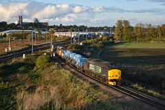 37405 + 37401 - Ely Dock Junction - 17/10/19. (TRphotography04) Tags: direct rail services drs 37405 br large logo 37401 mary queen scots topntail 0922 stowmarket dgl rhtt ely dock junction