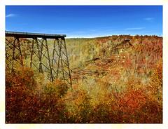 Remains of Kinzua Viaduct (kinglear55) Tags: kinzuaviaduct texture panasoniclx7 art photography adobe elements fall tornado kinzuabridgestatepark westernpennsylvania tas