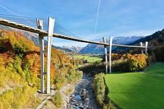 Sunnibergbrücke (Marcel Cavelti) Tags: dji0321 bridge sunniberg autumn fall forest colors river trail