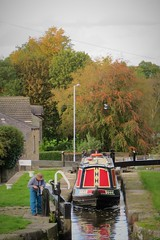 Ascending the Locks, Marple Lock Flight, Peak Forest Canal, Marple, Cheshire (HighPeak92) Tags: boats narrowboats locks lockflights marplelockflight canals peakforestcanal marple cheshire canonpowershotsx700hs
