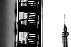 Prater Perspective I (christikren) Tags: austria absoluteblackandwhite blackwhite christikren contrast fun entertainment stairs vienna wien prater vergnügungspark black staircase