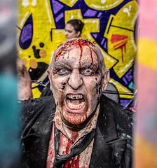 Mad as Hell (Andy J Newman) Tags: man scottkelby nikon london photowalk d500 zombie meetup zombiewalk londonphotographic england unitedkingdom