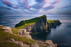 Neist Point , Skye Island,Scotland (JP Defay) Tags: scotland lighthouse sunset ocean sea landscape neistpoint travel viaje tourisme tourism