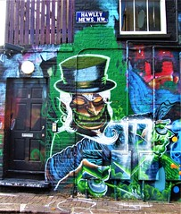 Mural In Chalk Farm - London. (Jim Linwood) Tags: mural camden london england