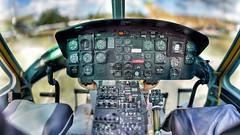 Bell UH-1 D cockpit (ChristianMandel) Tags: belluh1d cockpit helicopter hubschrauber aviation bokehpanorama brenizermethod ptgui fisheyeprojection nordholz aeronauticumnordholz ilce7iii sonya7iii sel85f18