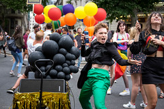 Party Like It's 1664 (Silver Machine) Tags: prideinlondon lgbtpride2019 pride protest festival march streetphotography street streetparade dancing dancinginthestreet girl beer kronenbourg1664 party streetparty fujifilm fujifilmxt10 fujinonxf35mmf2rwr