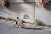 (Nadav G.) Tags: street bicycle bartsimpson graffiti film 35mm